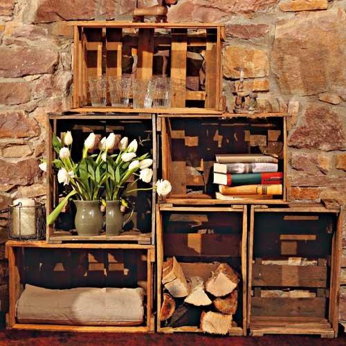 Möbel aus Wein- und Obstkisten - Bauanleitung   LandIDEE Magazin